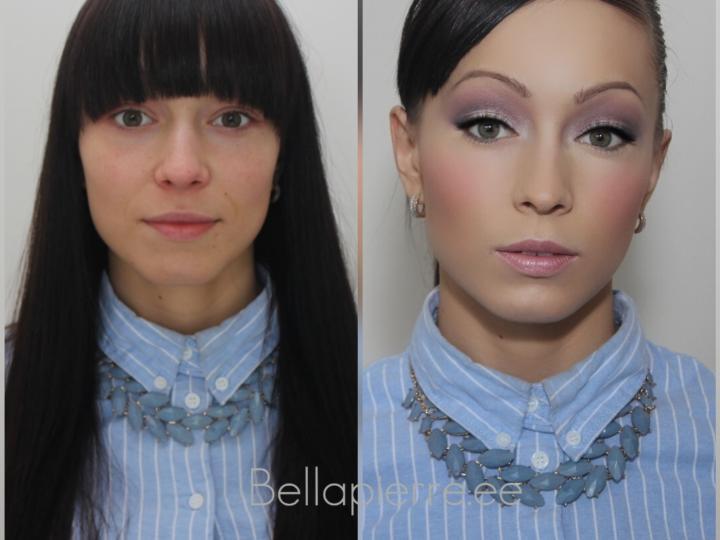 «До и После» минерального макияжа Bellapierre
